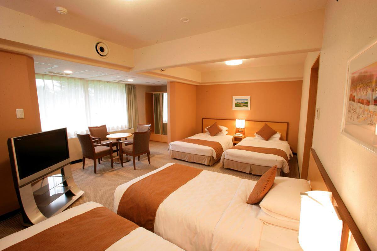 Furano prince hotel family room