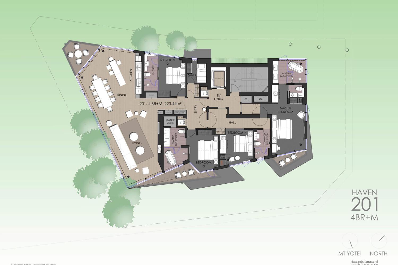 Haven Niseko - 5 Bedroom Apartment - 3 Key (#201 & #202 & #203