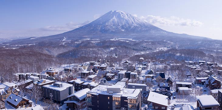 Beautiful Japanese snow resort