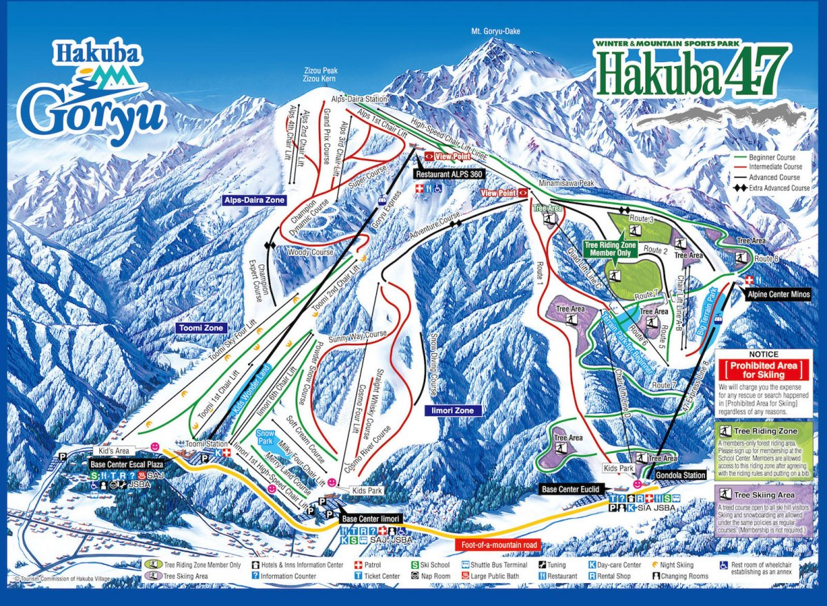 Hakuba 47 Map
