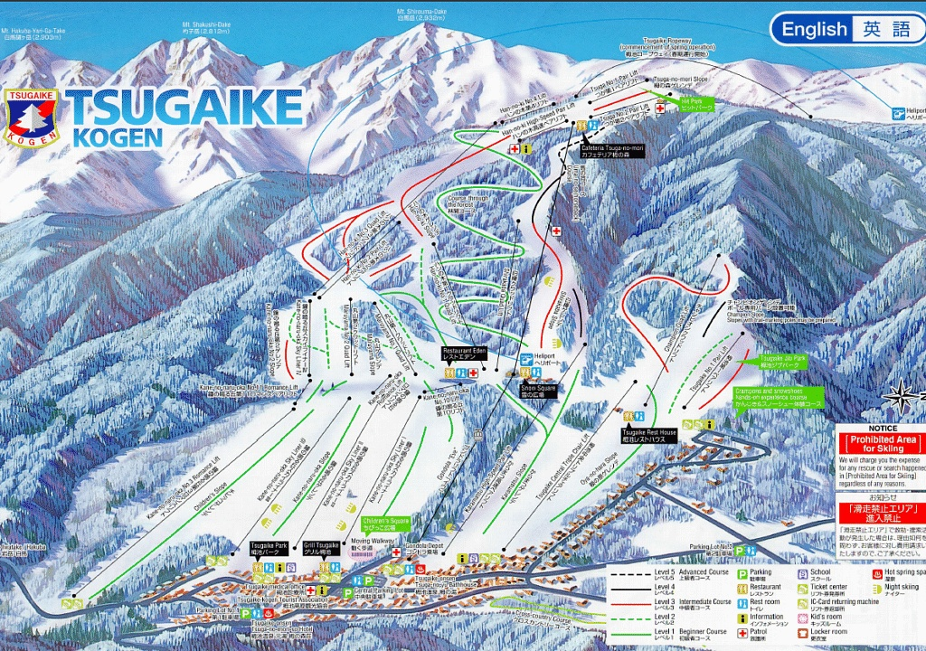 Tsugaike Trail Map