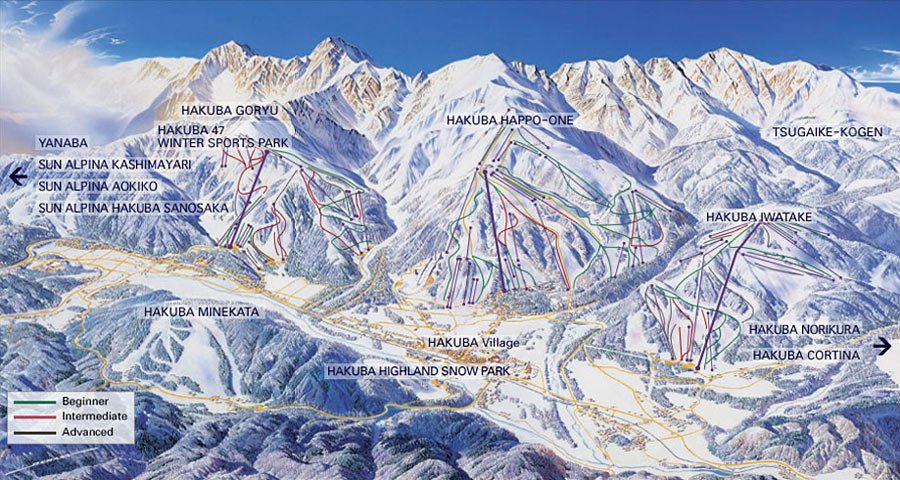 Hakuba Valley Map