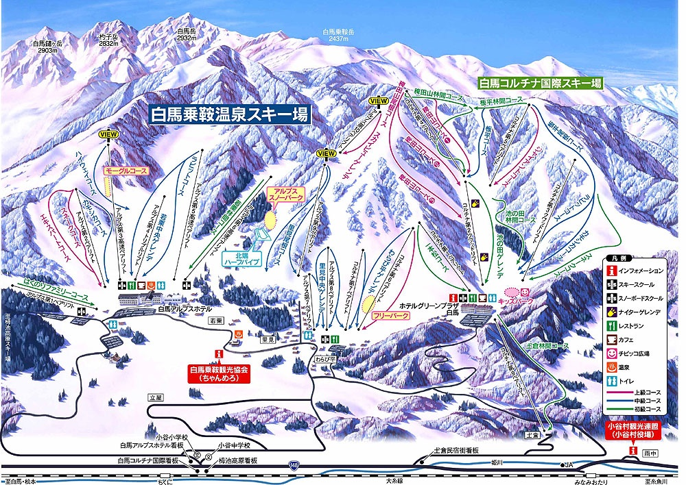 Hakuba Norikura Map