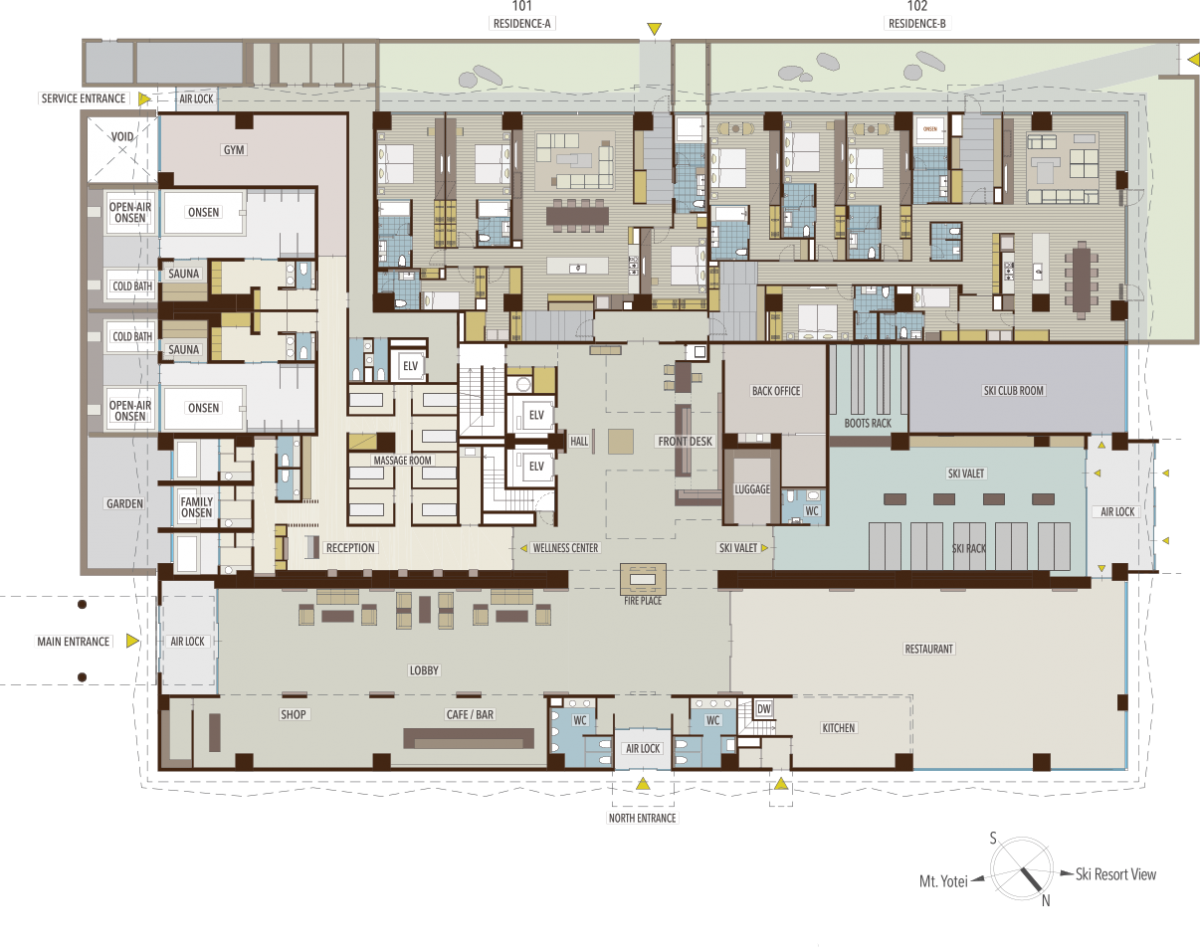 AYA Niseko Building Floorplan
